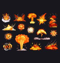 Explosion cartoon set icon vector