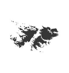 falkland islands map outline vector image