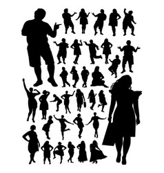 fat people detail silhouette vector image