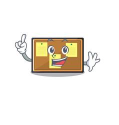 Finger toy bulletin board on cartoon vector