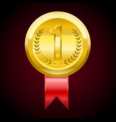 first place gold medal award vector image