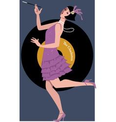 Flapper dancing charleston vector