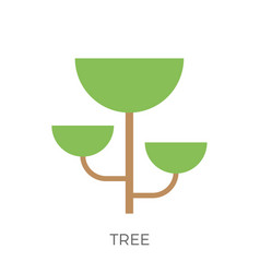 Flat tree icon vector