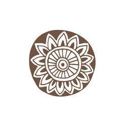 flower tattoo design mandala printed design vector image