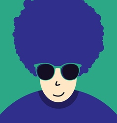 Funny boy with hairstyle vector image