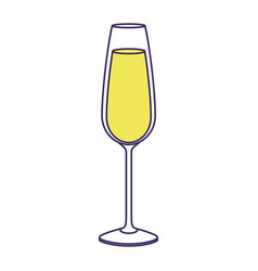 glass of champagne drink beverage liquid icon vector image