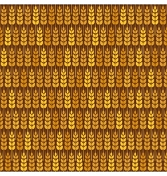 Golden wheat seamless pattern vector