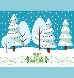 greeting card happy new year and christmas vector image