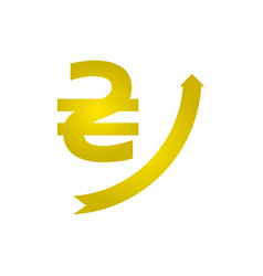 growth of the hryvnia icon vector image