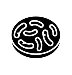 Gut bacteria glyph icon vector