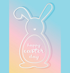 Happy easter day poster vector
