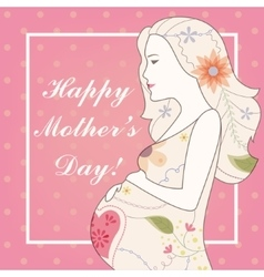 Happy mother s day card vintage vector image