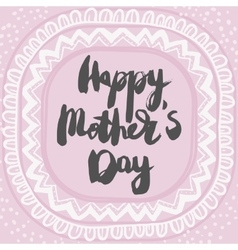 Happy Mothers Day Colorful Greeting Card vector