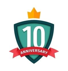 Happy tenth birthday badge icon vector