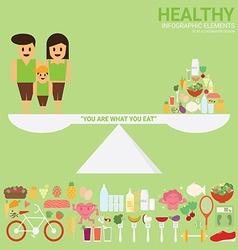 Healthy Family vector image vector image
