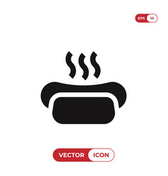 hot-dog icon vector image