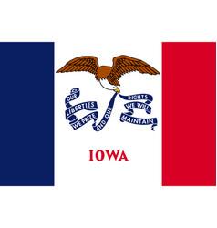 Iowa flag united states america vector
