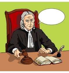 Judge verdict comic book vector image