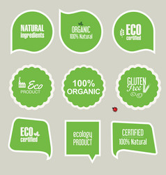 labels and emblems of ecology collection 2 vector image