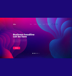 liquid color background design for landing page vector image