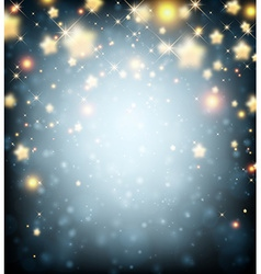 Luminous background with stars vector