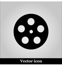 Movie icon on grey background vector image