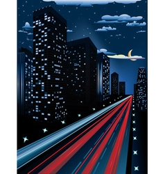 Night City Road2 vector image