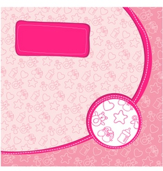 pattern baby girl vector image