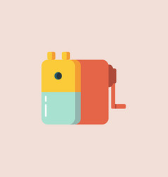 pencil sharpener in flat style icon vector image