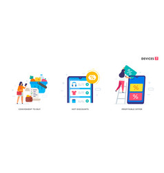 People use gadgets set icons vector