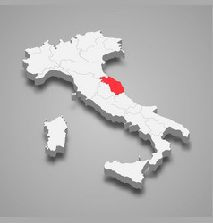 Marche Cartina Province.Map Marche Province Vector Images 56