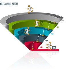 Sales funnel 3d graphics vector