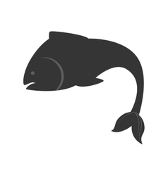 sea fish nature swim icon vector image