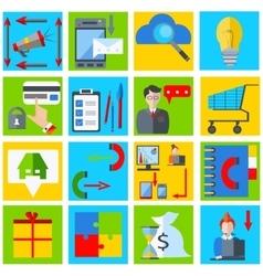 Set elements business businessman gadgets vector image