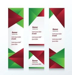 set of abstract banner christmas styles vector image