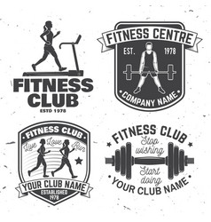 Set of fitness club badges concept for vector