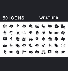 Set simple icons weather vector