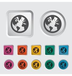 Simple World globe 2 vector image