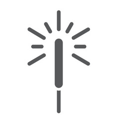 sparkler glyph icon flame and firecracker vector image