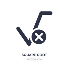 Square root icon on white background simple vector