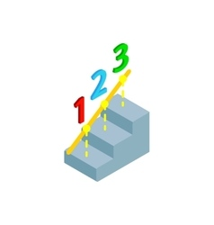 Steps to success icon isometric 3d style vector image