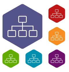 Structure rhombus icons vector image