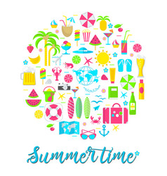 summer card on white vector image