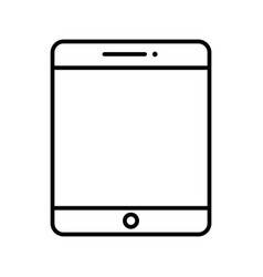 tablet line black icon vector image