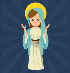 virgin mary pray statue image vector image