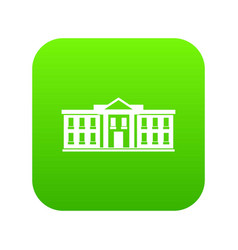 white house usa icon digital green vector image