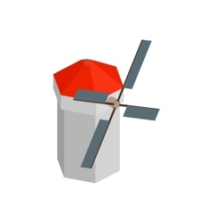 Windmill isometric 3d icon vector image