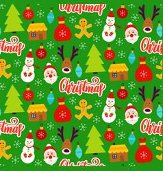 christmas greeting seamless pattern vector image