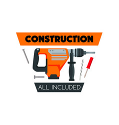 construction work tools home repair icon vector image