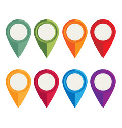 flat icons location pointer for web mobile and vector image vector image